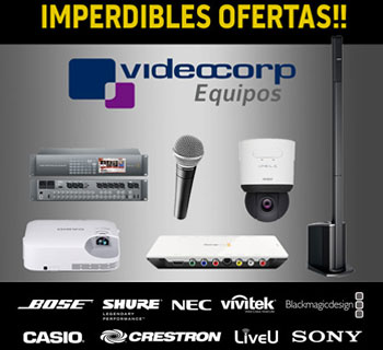 VIDEOCORP Equipos de audio, broadcast  y video Profesional en Chile